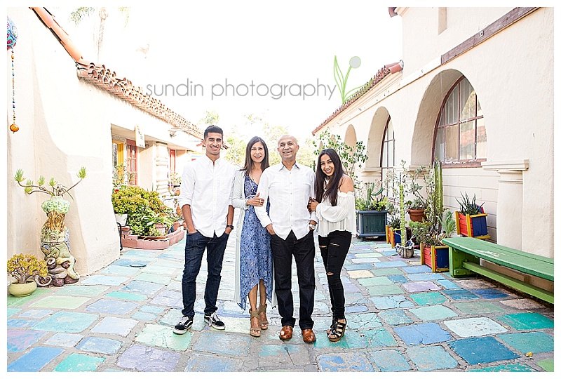 Family Photography in Balboa Park Spanish Village