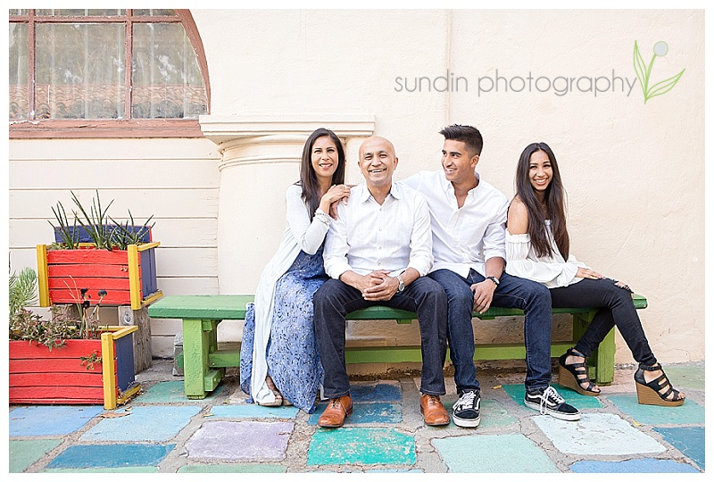 Family portraiture in Spanish Village Balboa Park